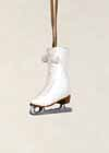 * Outdoor Ice Skate Ornament White *