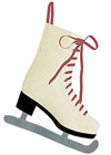 * Ice Skate Stocking with Red Laces *