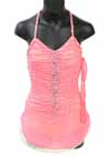 Consignment Sharene Coral Mesh Yellow Halter Swarovski Child M