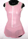 Consignment Custom Pink & Silver Lycra Zipper Front Child 10-12