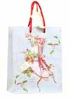 * Skate Gift Bag Red Cord Handles and Happy Holidays Tag *